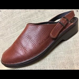 JOSEF SEIBEL Mules Clog Brown Leather Slip On's